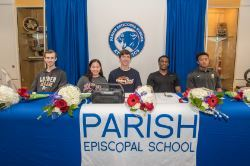 Parish Episcopal student athletes make college commitments