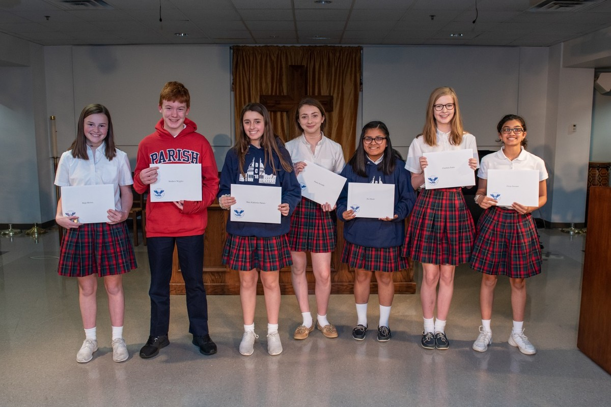 Parish Middle School students honored for service